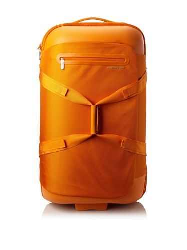 Mandarina Duck Large Scratch Resistant Trolley Double Handle with Terminal, Arancio