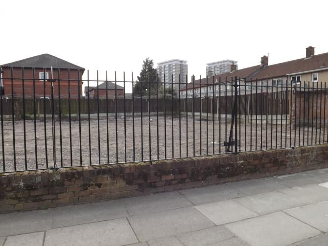 Kennelwood Avenue, Kirkby (On-site photo) - The Kennelwood Avenue site was formerly home to KHT Homeless Hostel and was left vacant when the unit was moved to Yates Court in Prescot.