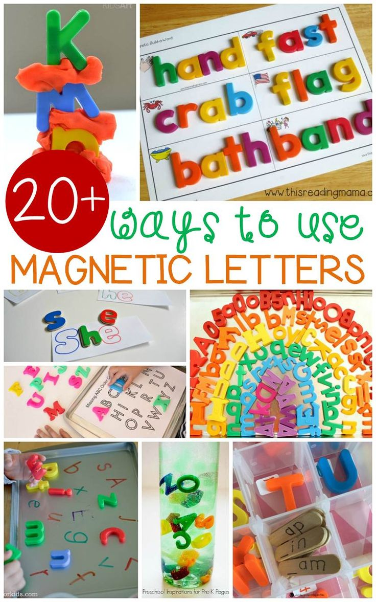These magnetic letter activities are great for literacy centers. So many ways to practice early reading skills with Pre-K, Kindergarten, and 1st grade!