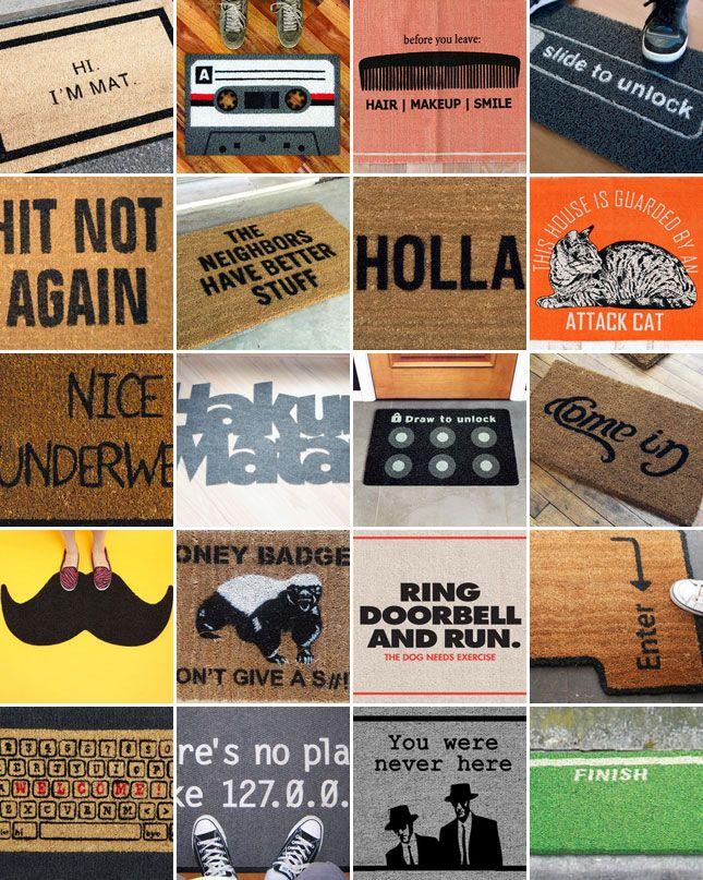 Best 25 Welcome Mats Ideas On Pinterest Doormats Cool