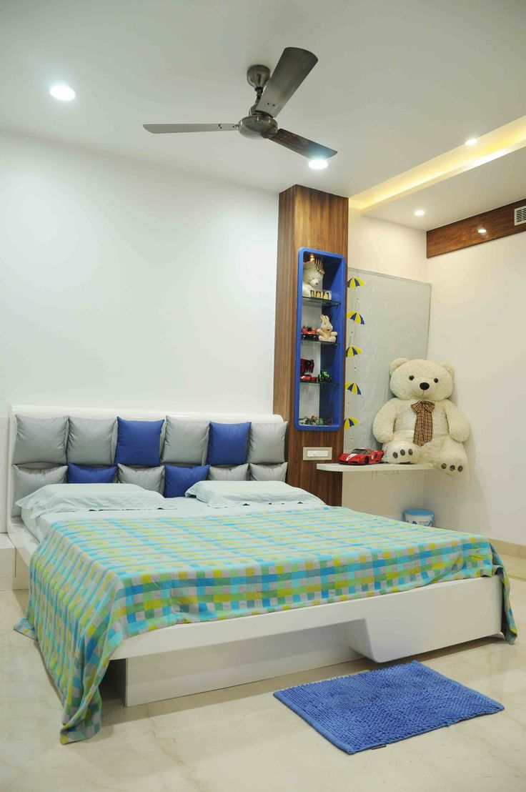 Kids Bedroom With Soft Toys Designed By Samanth Gowda Architect In Hyderabad Andhra Pradesh
