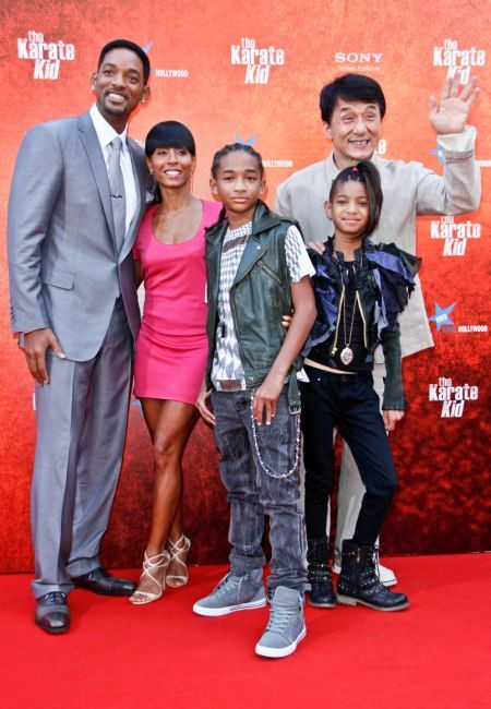 will smith and family   jackie chan