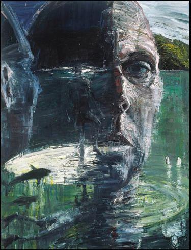 Euan Macleod Self Portrait head like a hole
