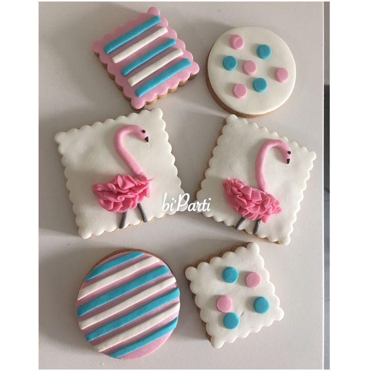 Flamingo theme. Flamingo cookies. Flamingo party ideas. Birthday cookies.