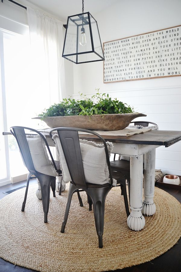 Dough Bowl Centerpiece Dining Table