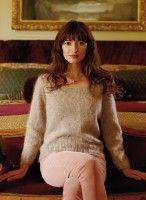 Пуловер из мохера спицами с описанием