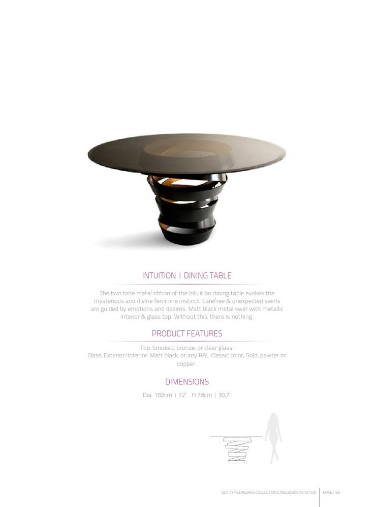 Attractive Intuition Dining Table By KOKET | Available At Http://www.uber  Design