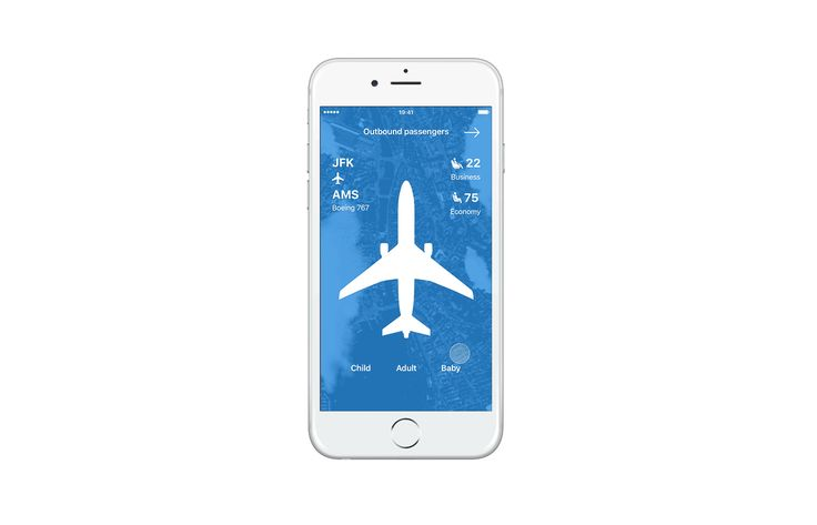 American Airlines app design on Behance