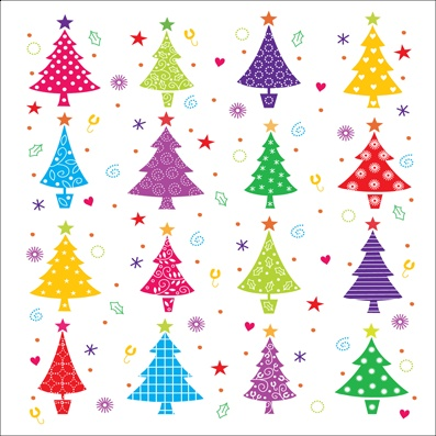 Firs in a Row - Macmillan Cancer Support Christmas Cards
