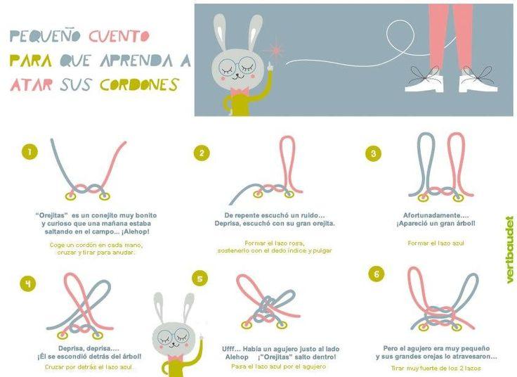 ¿Quieres ayudar a tus hijos a atarse solos los cordones? Mira entonces, este post tan útil.
