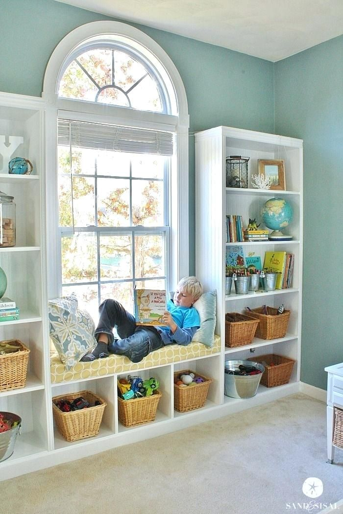 Window Bookshelf Built In Bookshelves Seat Under Bookcase Bench