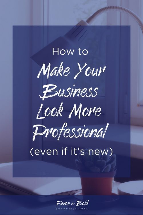 How to make your business look more professional, even if you're just starting out. [Communication, Branding, Business & Life Advice for Creative Entrepreneurs from Favor the Bold Communications]