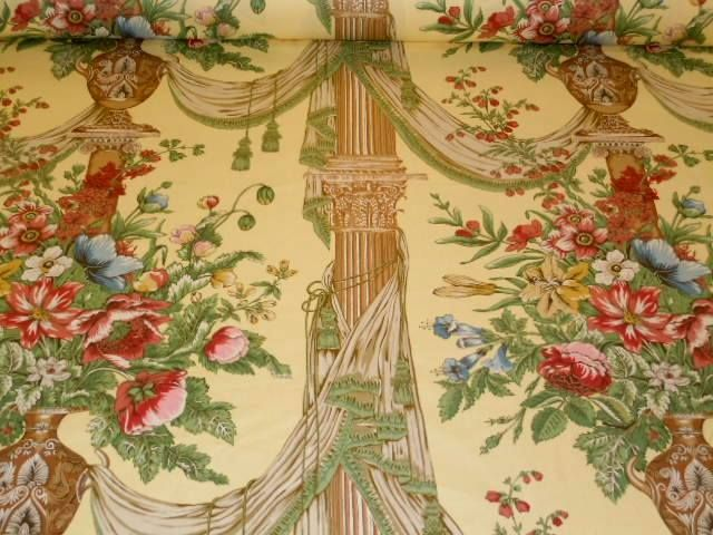 Chintz Fabric Vintage English Chintz Fabric Urn Amp Swag