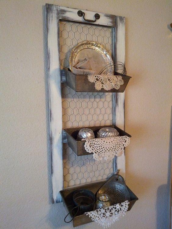 Repurposed old loaf pans. This Old Hat, Repurpose, Refinish, Rebuild: