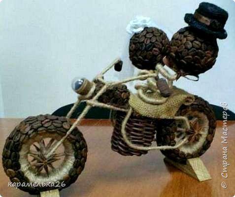 Поделка изделие Моделирование конструирование мотоцикл Кофе