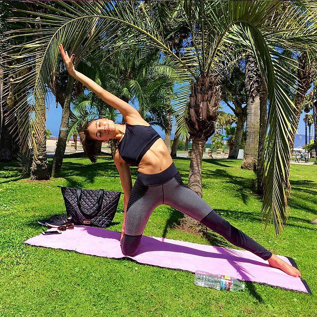 Olivia Culpo rolled out her mat in paradise.