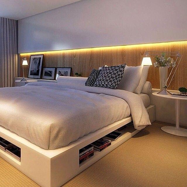 Quartos de casal com nicho atrás da cama - veja mais sobre essa tendência para a decoração de quartos! Assim eu gosto: blog de decoração.