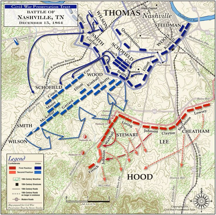 Civil War Battle Maps | Battle of Nashville - December 15, 1864