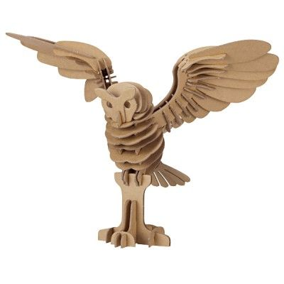 3D puzzle: Craft, Gift, Owl Puzzle, 3D Animal, Kids Puzzles, Muji, Owls