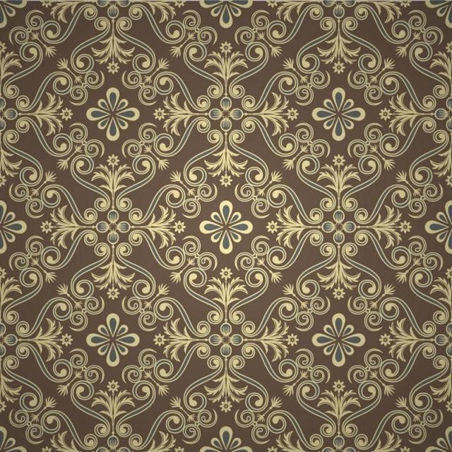 Seamless Luxury Ornamental Background Gold Damask Seamless Floral