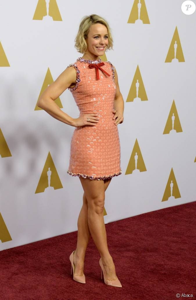 Actress Rachel McAdams attends the 88th annual Academy Awards Oscar nominees luncheon at the Beverly Hilton Hotel in Beverly Hills, California on February 8, 2016. Description from upi.com. I searched for this on bing.com/images