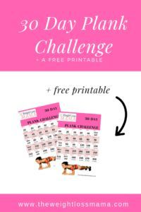 graphic about Plank Challenge Printable titled The 30 Working day Plank Trouble with a Absolutely free Printable Workou