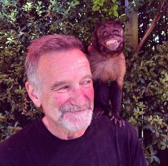 The last photo of Robin Williams . RIP
