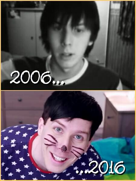 Ten years can really change a person, but in his case the change was for the better:) he made a best friend got an amazing job and is internet famous. Not to mention he has co-written a book and is also on a world tour. Huh, to think his future was based off of a cereal box coupon.