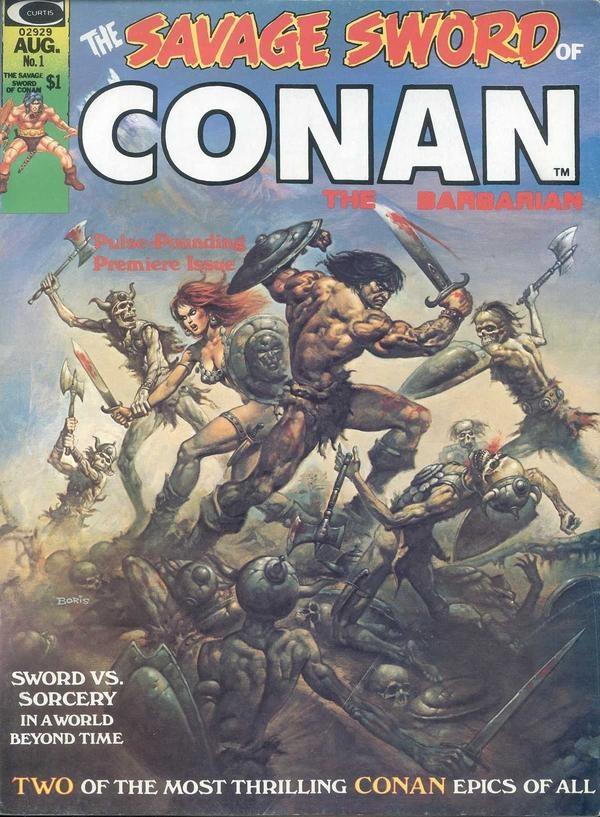The Savage Sword of Conan - Have the complete run, but still working through reading them all. Conan comics the way Conan comics should be, with some beautiful art, especially in the inking.