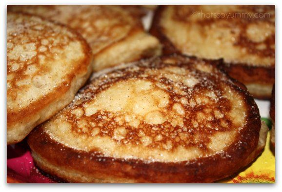 Banana fritters... why o why am I allergic to banannas!  Going to try these with applesauce.