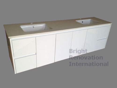 White-1800mm-Double-UnderMount-Basin-Bowl-Stone-Top-Wall-Hung-Vanity
