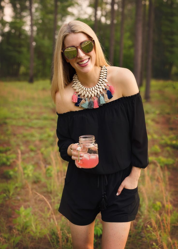 5b52e116d892 This off the shoulder romper is perfect for tall women that have trouble  with the fit of myst rompers. Wrinkle free fabric makes it perfect for  travel. j. ...