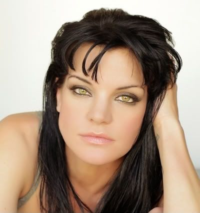 Pauley Perrette    look at those beautiful eyes she is so pretty and doesnt look like sweet lil' Abby
