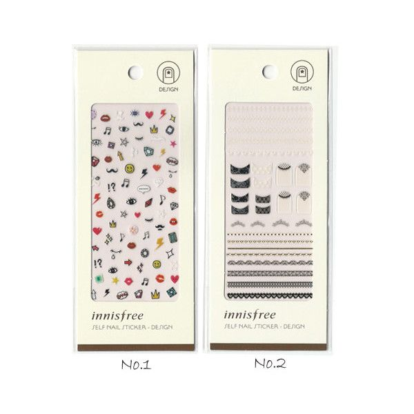 Innisfree Self nail sticker design Innisfree Stickers Online Shopping... ❤ liked on Polyvore featuring accessories and innisfree