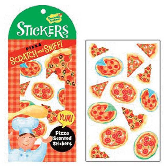 Pizza Scratch and Sniff Stickers Teens Game by CrankyCakesShop