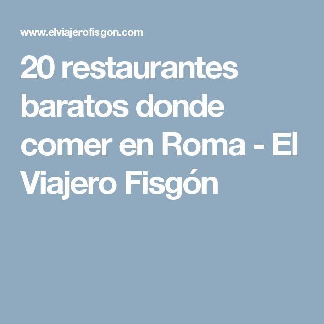20 restaurantes baratos donde comer en Roma - El Viajero Fisgón