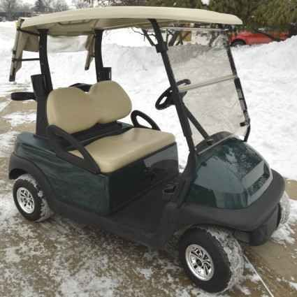 New 2012 Club Cards Hunter Green Precedent Electric 48v Golf Cart SS Style ATVs For Sale in Illinois. Features: 2010 Club Car Precedent Fleet Vehicle Hunter Green Body (Call for prices on custom colors) SS Style Wheel Covers Factory Tan Top Flip Tinted Windshield Back Bag Cover / Canopy Looking to travel the golf course in style? Search no more! This luxurious Hunter Green Club Car Precedent Electric 48v Golf Cart w/ SS Style Wheel Covers offers you a stylish comfortable ride around the…