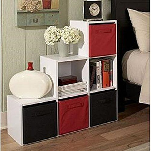Storage Organizer Bookshelves 6 Cube Step  Modern Accent Shelf Unit White NEW #StorageOrganizerBookshelves