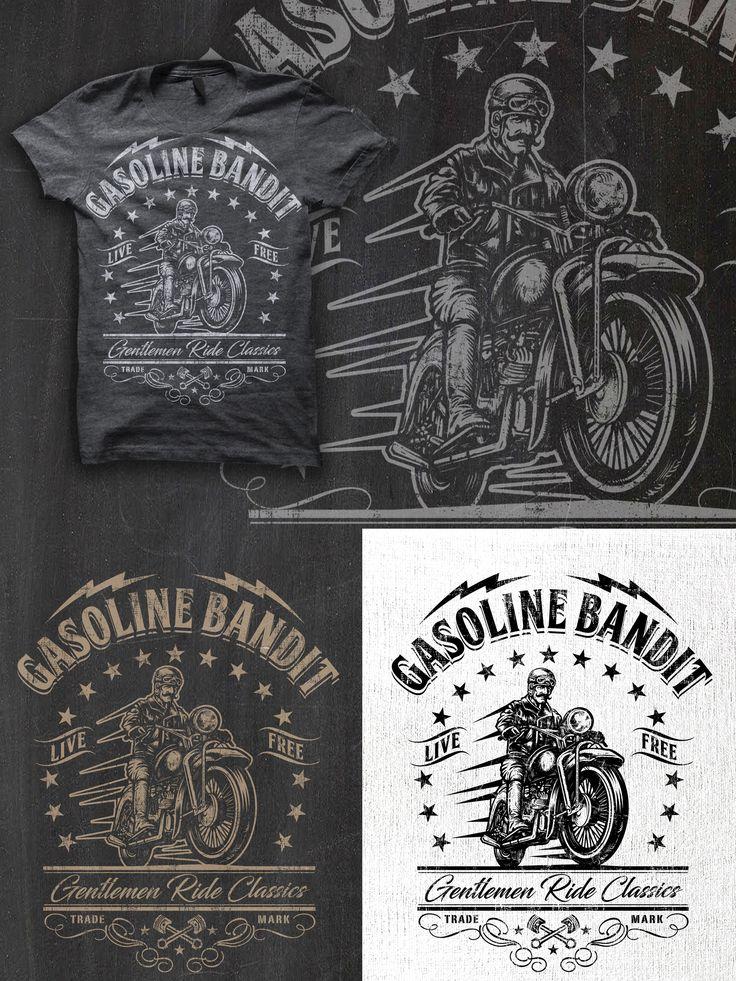 Designs | +++ Old fashioned Gentlemen-Biker T-Shirt - Create a cool vintage retro design+++ | T-shirt contest