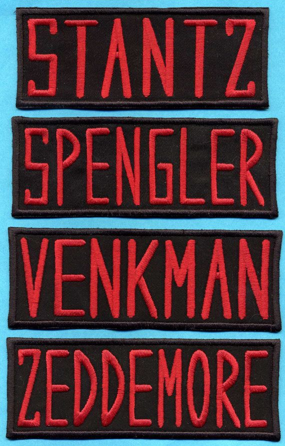 CHILD or TODDLER SIZED Ghostbusters Embroidered Name Tag Patch - Choice of Name: Venkman, Stantz, Spengler, Zeddemore, Melnitz