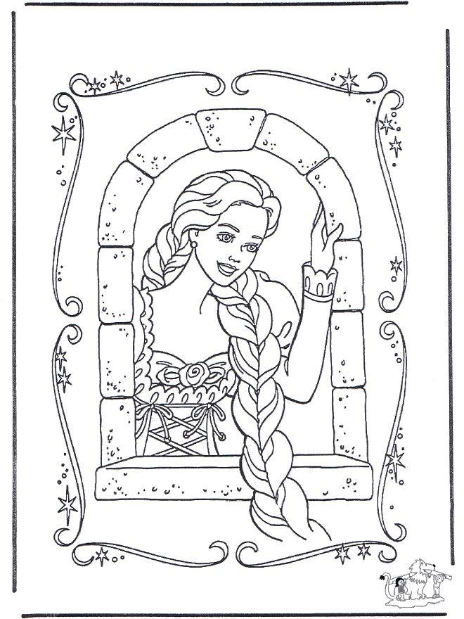 Malvorlage Rapunzel