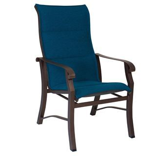 Check Out The Woodard 42H526 Cortland Padded Sling Outdoor High Back Dining  Arm Chair