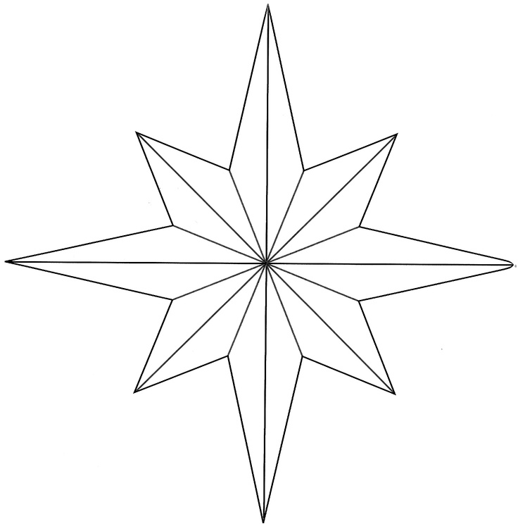 Hopemore eight point star template printables