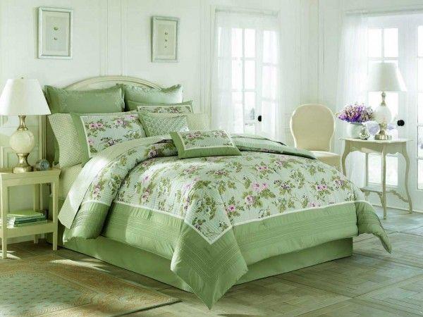 Ropa de cama verde