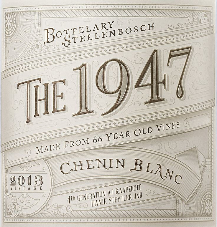 Label For Bottelary Stellenbosch Wine With Images Lettering Design Typography Inspiration Vintage Typography