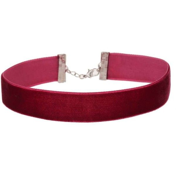 Miss Selfridge Burgundy Velvet Choker (143.770 IDR) ❤ liked on Polyvore featuring jewelry, necklaces, accessories, chokers, red, choker necklace, red velvet jewelry, velvet jewelry, red jewelry and red necklace