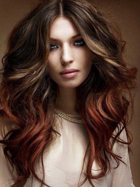 Haarkleur ideeën voor 2017 #hairstyle #2017 #Ombre #brunette