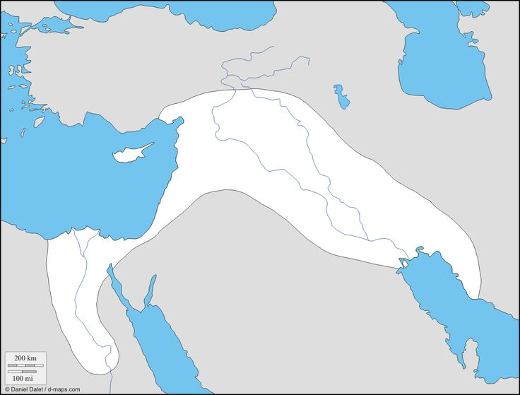 Fertile Crescent Mesopotamian And Egypt Free Map Free