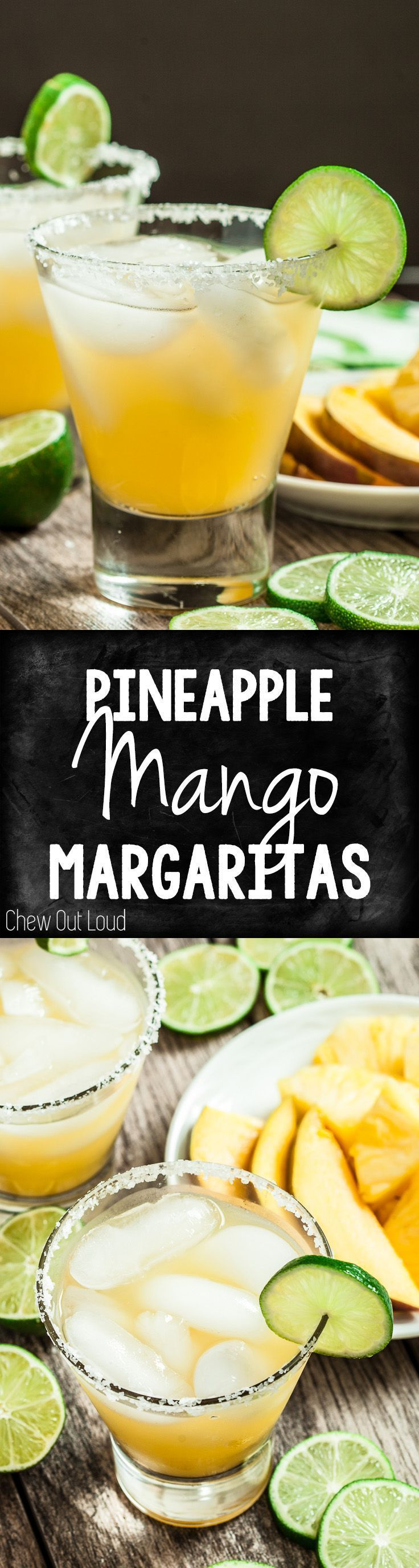 4-Ingredients. Tropical margaritas perfect for summer!