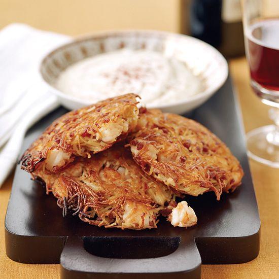 Crispy Pan-Fried Shrimp and Chorizo Fideo Cakes // More Fabulous ...